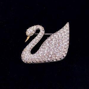 Swarovski Swan Brooch / Pin